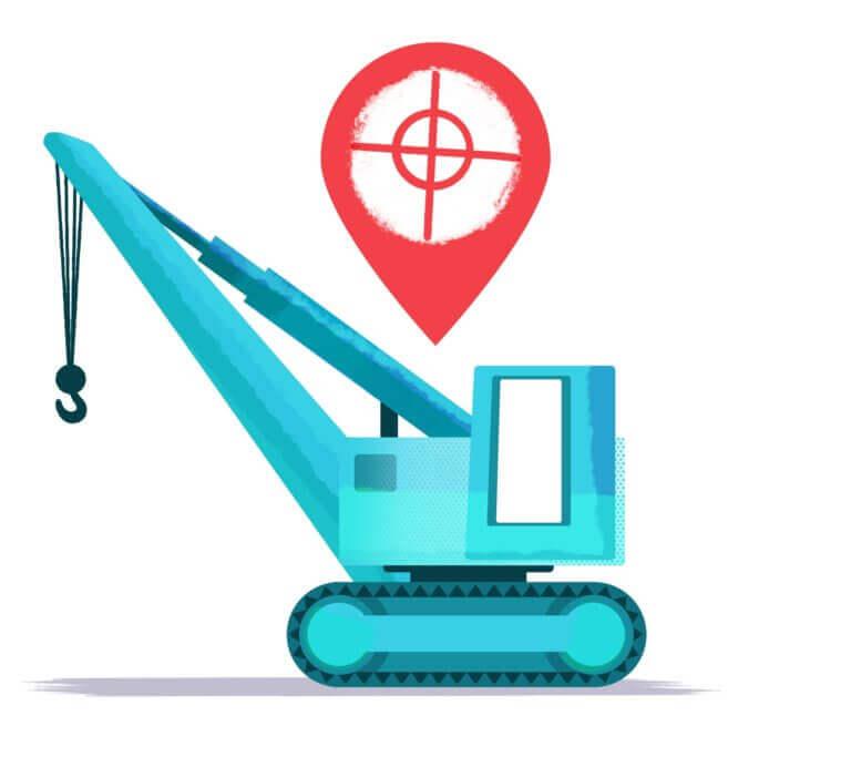 GPS sporing til udstyr - icoon